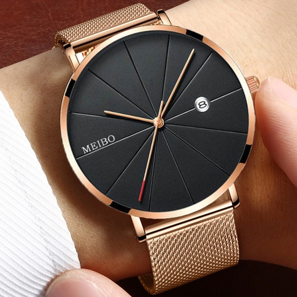Christmas Present Luxury Watches Men Gold Stainless Steel Ultra .
