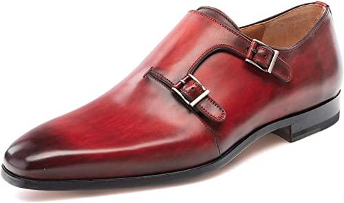 Amazon.com: Magnanni Jamin Red Men's Monk Strap Shoes: Sho