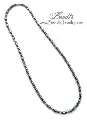 Men's Magnetic Hematite Necklace- Men's Jewel