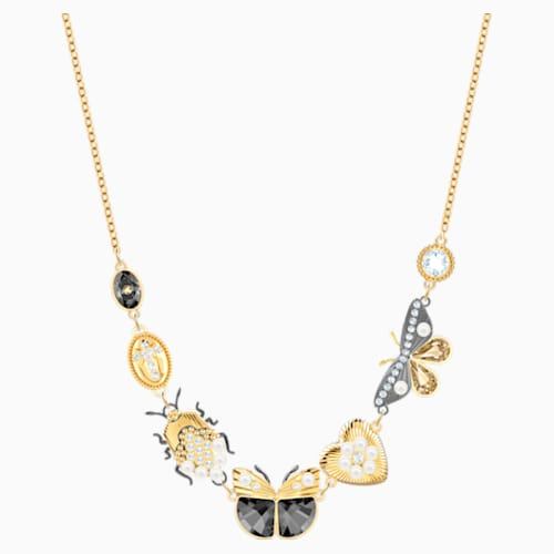 Magnetic Necklace, Multi-colored, Mixed metal finish | Swarovski.c