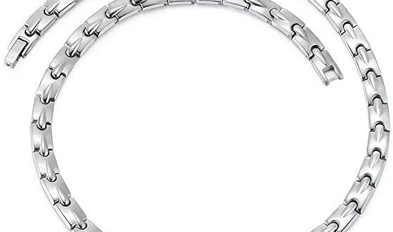Amazon.com: Pure Titanium Magnetic Therapy Chain Necklace for Neck .