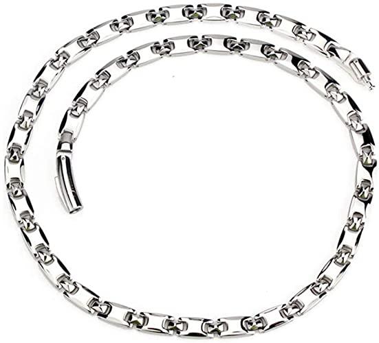Amazon.com: Men's Silver Pure Titanium Magnetic Therapy Link Chain .