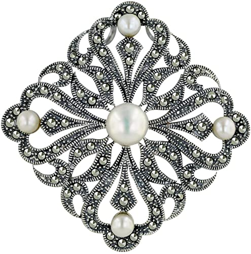 Amazon.com: Tang & Song .925 Sterling Silver Marcasite Jewelry .
