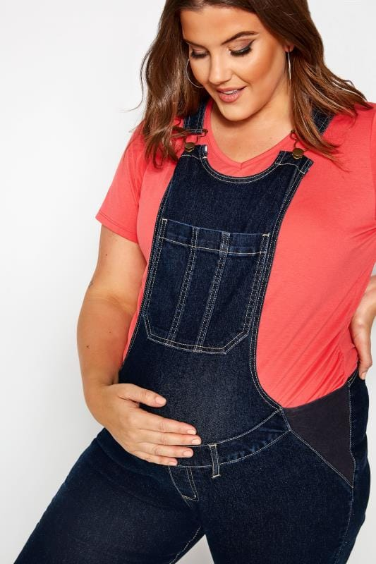 BUMP IT UP MATERNITY Blue Denim Dungarees | Sizes 16-36 | Yours .