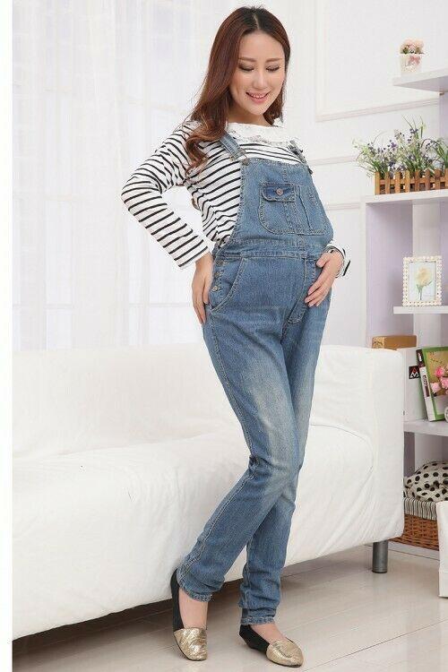 Maternity Jeans Dungarees Pregnancy Pants Overalls Denim Cute .