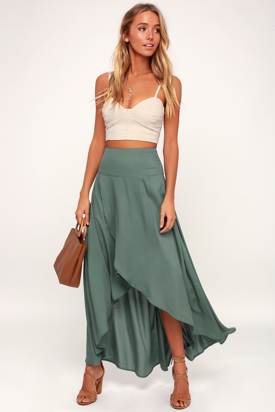 O'Neil Ambrosio Skirt - High-Low Skirt - Maxi Skirt - Green Ski