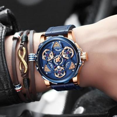 Men's Mechanical Watch Japanese Movement Business Quartz Watch .