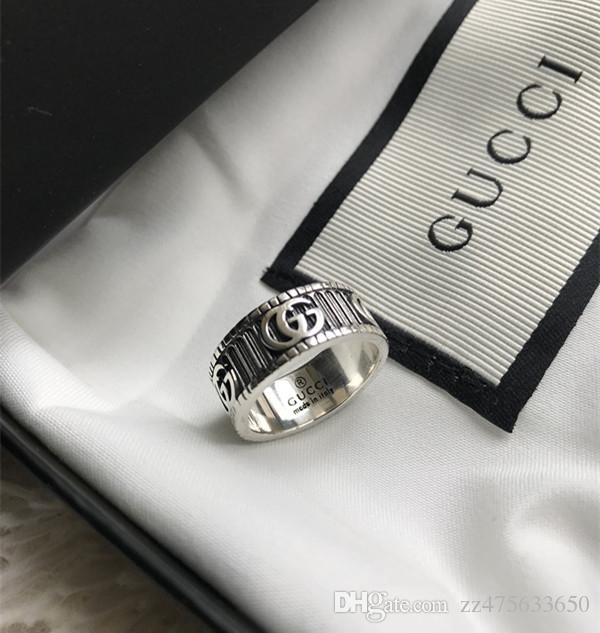 Brands Designers Men Rings Real 925 Sterling Silver Ring .