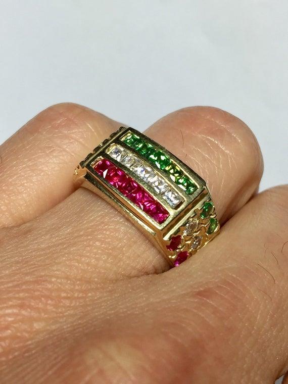 Solid 14k Gold Men Ring Nugget Rings Men Rings Mexico   Et