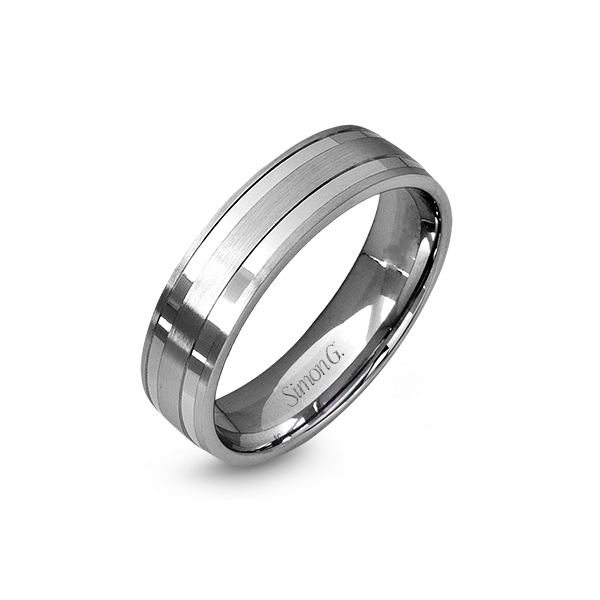 Simon G 18K WHITE GOLD Men's Ring 109020 #1374179 - PNG Images - PNG