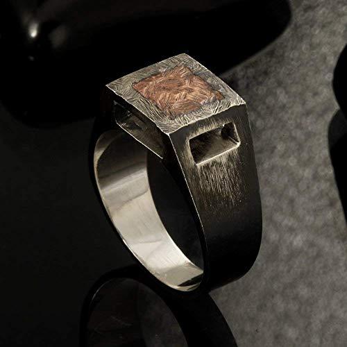Amazon.com: Rustic mens ring, Unique men's ring, Signet ring, Mens .