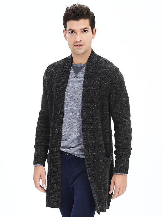 Warm men cardigans for winter | Mens fashion cardigan, Mens long .