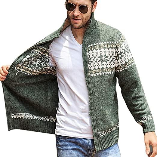 Amazon.com: Sevem-D Men's Cardigans Sweaters Winter Mens Sweaters .