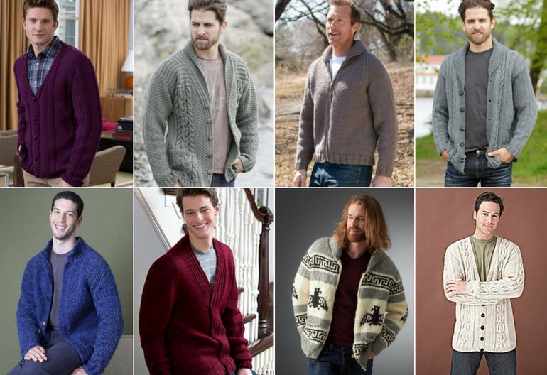 Stylish Men's Cardigans: 20 Free Knitting Patterns   Knitting Wom