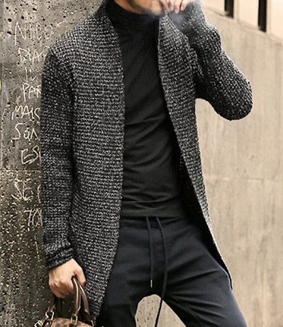 Mens Long Sleeve Cardigan, Mohair Wool Sweater | Capthatt Mens .