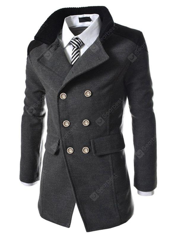 Men's Coats Stylish Turn-down Collar Comfort Warm Sale, Price .