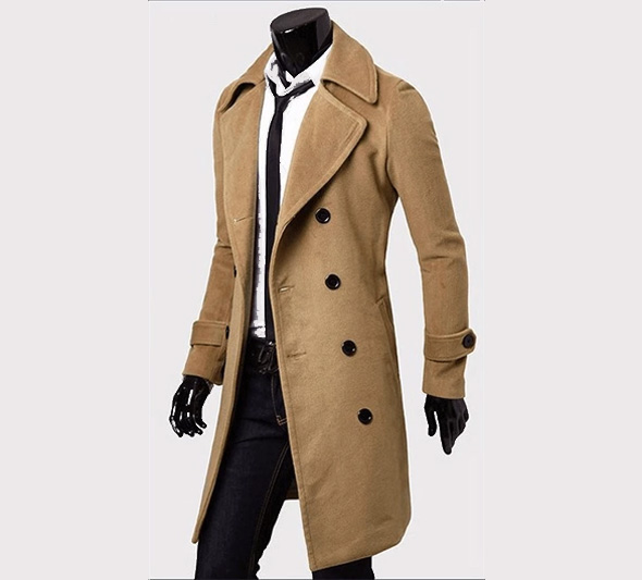 The Classic Men's lightweight Light Brown Trench Coat | HB Leather .