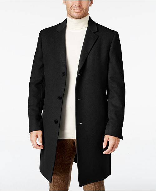 Lauren Ralph Lauren Men's Luther Wool Blend Top Coat & Reviews .