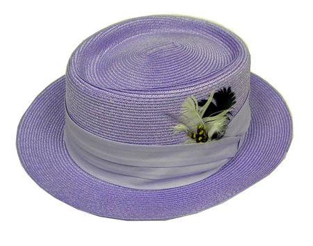 Mens Summer Straw Dress Hats Lavender PC3