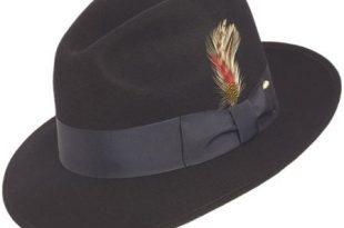 Mens Navy Fedora Hat 100% Wool Untouchable Dress Hat 83