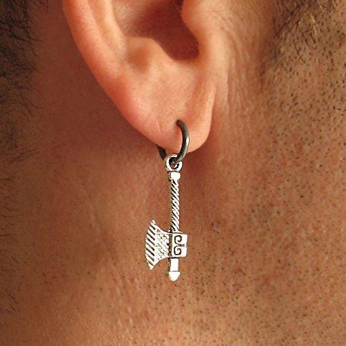 Amazon.com: Viking Axe Earring for Men - Single Mens Earrings .
