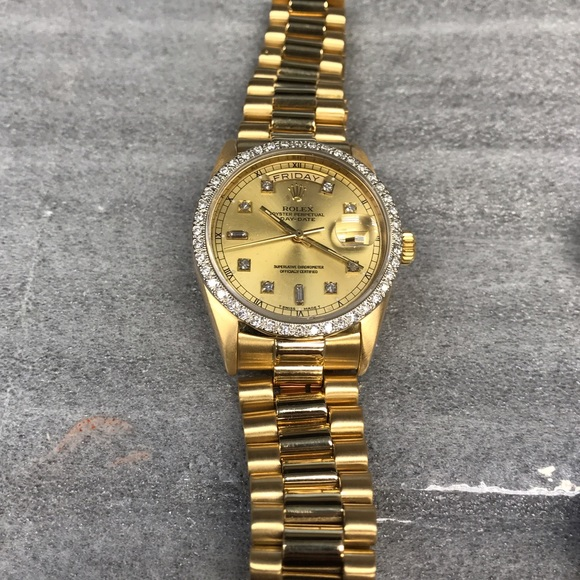 Rolex Accessories | Mens 18k Solid Yellow Gold Watch | Poshma