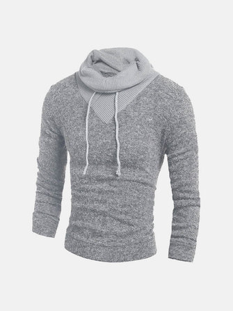mens hoodie color stitching pullover winter sportswear long sleeve .
