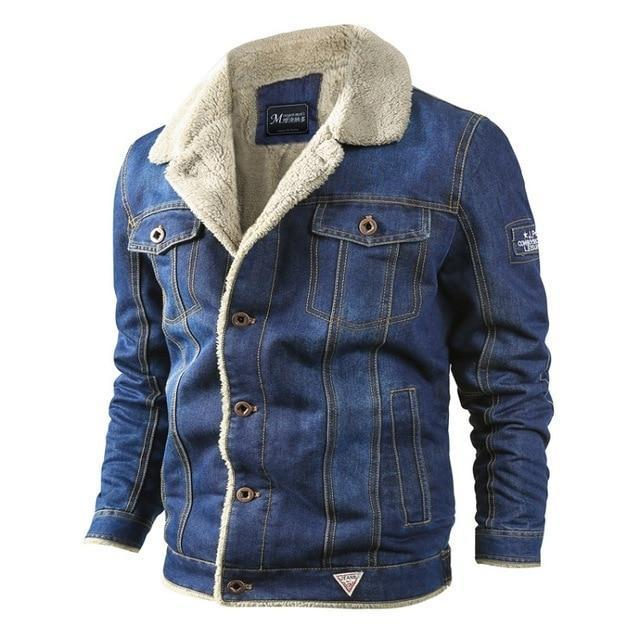 Denim Mens Jackets Winter Military Jeans Jacket Men Thick Warm .