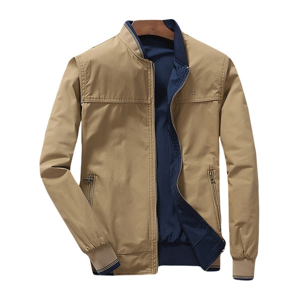 2019 Bomber Jacket Men Both Side Wear Pilot Mens Jackets And Coats .