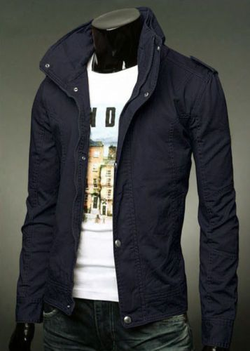 New-Mens-Slim-Fit-Casual-Zipper-Button-Top-Design-Military-Jackets .