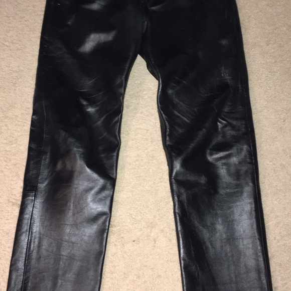 Lucky Leather Inc. Pants | Mens Black Leather | Poshma