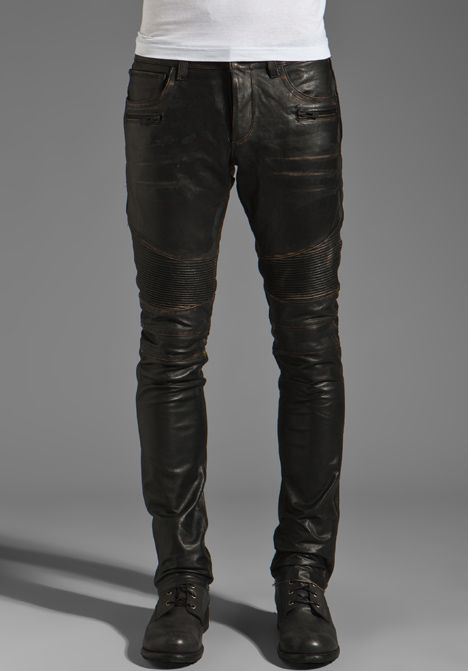 ROGUE Leather Pants in Black | Mens leather pan