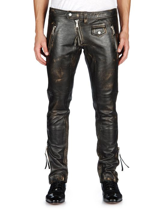 Men's Leather pants DSQUARED2 - Official Online Store United .