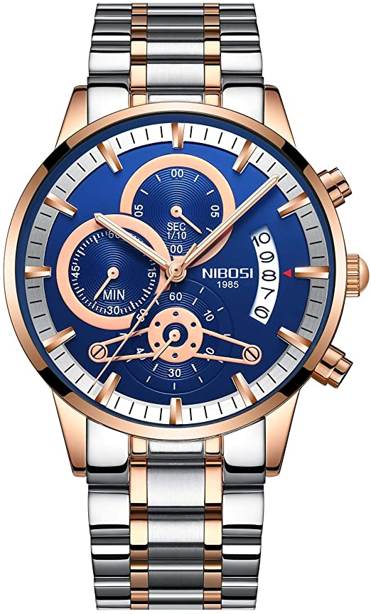 Amazon.com: Men's Luxury Watches Chronograph Water Resistant .