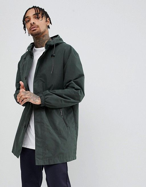 ASOS - Hooded Light Weight Parka In Forest Green - $51.00 | Mens .