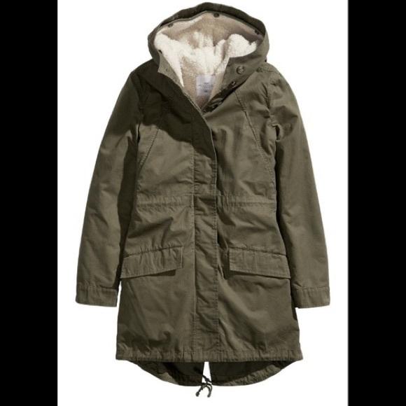 H&M Jackets & Coats | Hm Olive Green Parka Jacket | Poshma