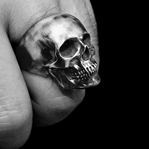 Amazon.com: Skull ring 925 silver skull rings mens rings scar .