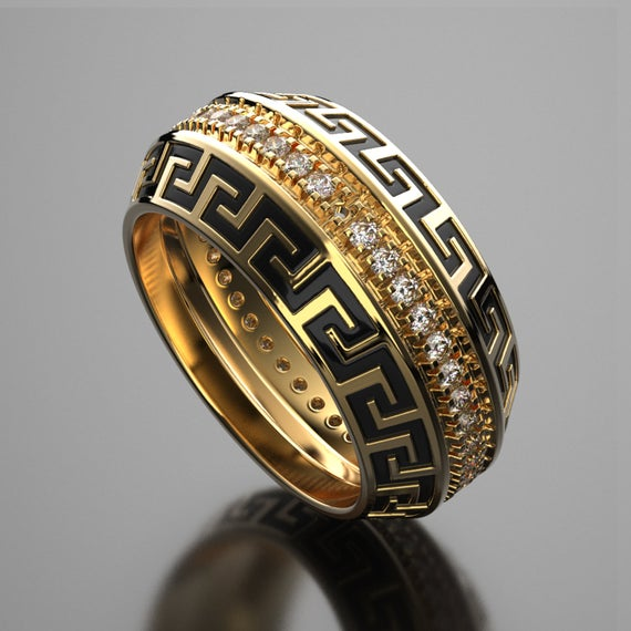 Versace mens wedding ring wedding sets women rings custom | Et