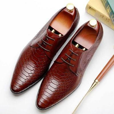 Italian Designer Mens Shoes | Mens Brown Derby Sho