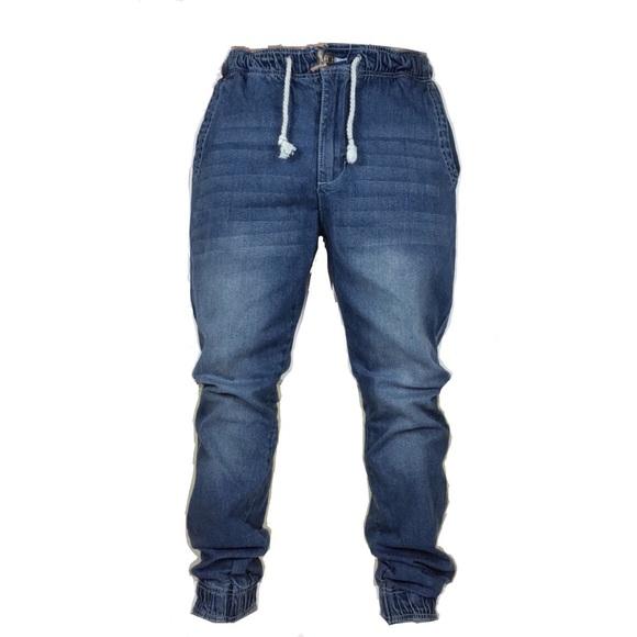 Jeans | Mens Stretch Denim Slim Fit Drawstring Joggers Nwt | Poshma