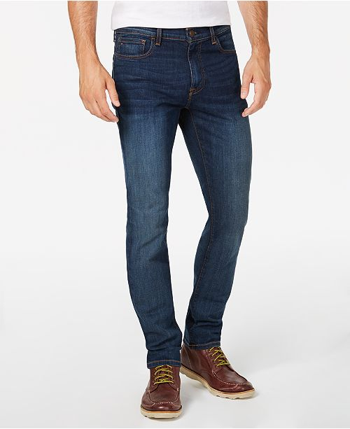 Tommy Hilfiger Men's Straight Fit Stretch Jeans, Created for .