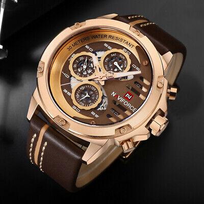 NAVIFORCE 9110 Mens Watches Luxury Waterproof 24 hour Date Quartz .