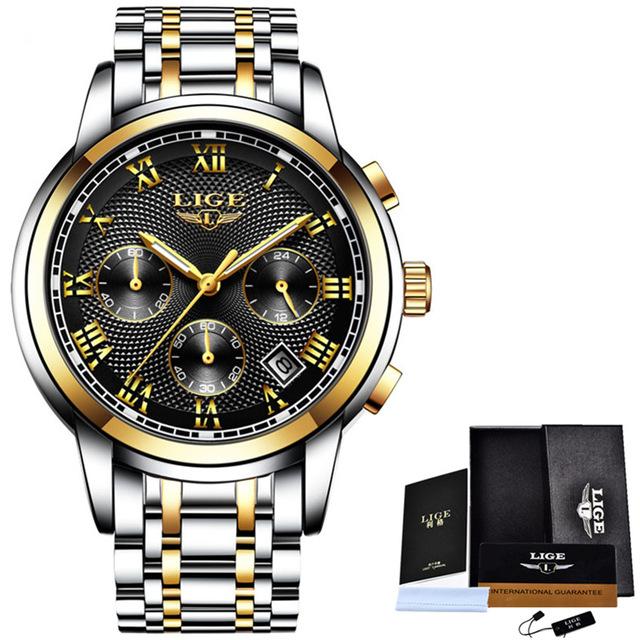 LIGE Watch Men Fashion Sport Quartz Clock Mens Watches Top Brand .