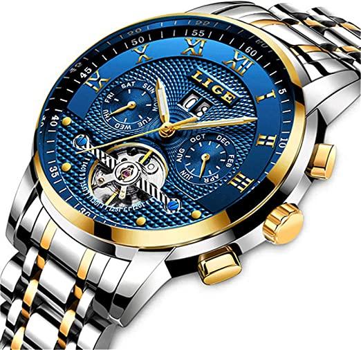 Amazon.com: Mens Watches Top Brand Luxury LIGE Automatic .