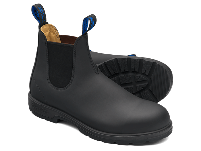 Black Premium Waterproof Leather Chelsea Boots, Men's Style 566 .