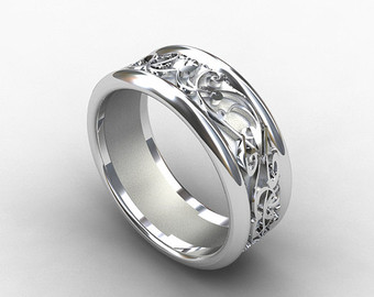 Contemporary Unique Men Wedding Ring Band Grandioseparlor Com .