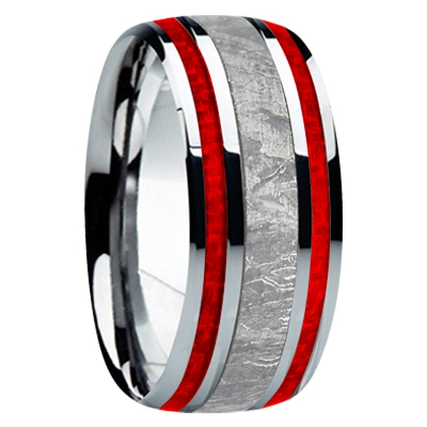 9 mm Meteorite, Mens Wedding Bands - M740FS-R
