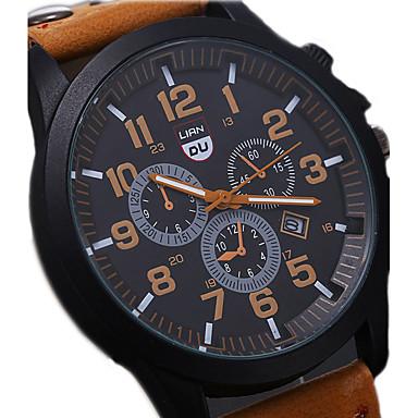 Men's Wrist Watch Aviation Watch field watch Quartz Leather Black .