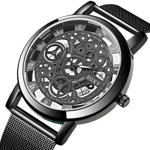 Skeleton Mens Wrist Watch - Moxiwat
