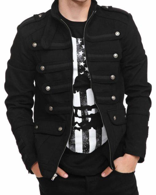 Black Guard Military Jacket | Gothic & Steampunk Jacket - Kilt and .